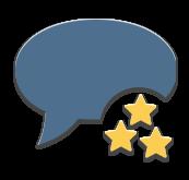 Отзывы с рейтингом каждого отзыва